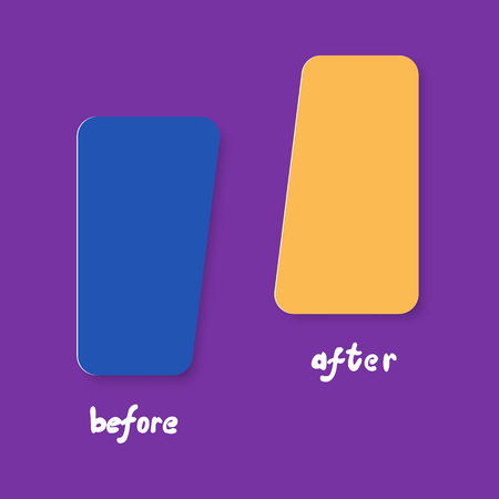 Template background before and after. Vector illustration. 일러스트