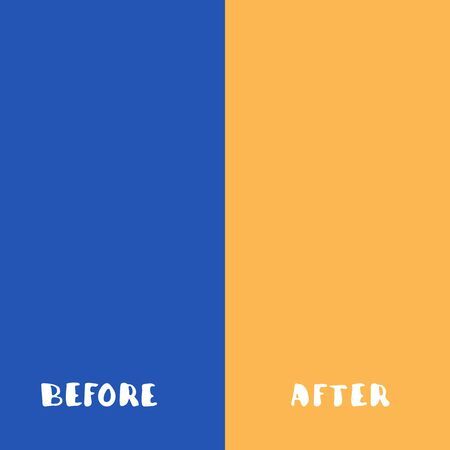 Template background before and after vector illustration. Vettoriali