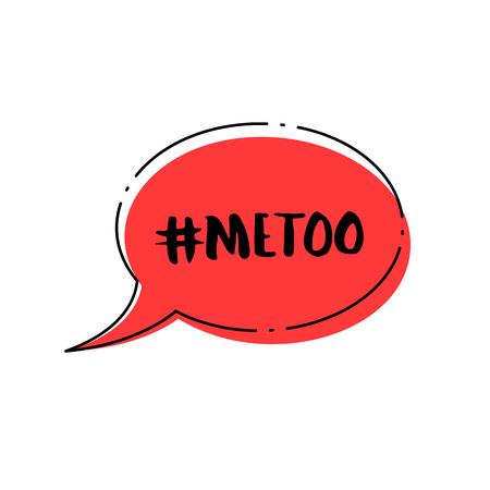Hashtag Me too. Handwritten lettering Metoo. Vector illustration.