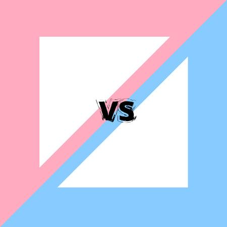 VS screen. Versus card. Vector illustration.