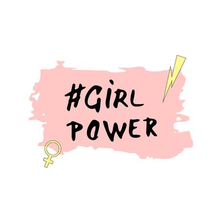 Girl Power composition. Vector illustration. Stock Illustratie