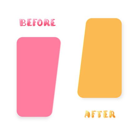 Before and After. Comparison banner with empty space. Template for graphic design. Vector illustration.