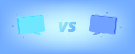 VS card. Versus screen template with speech bubbles. Vector illustration.