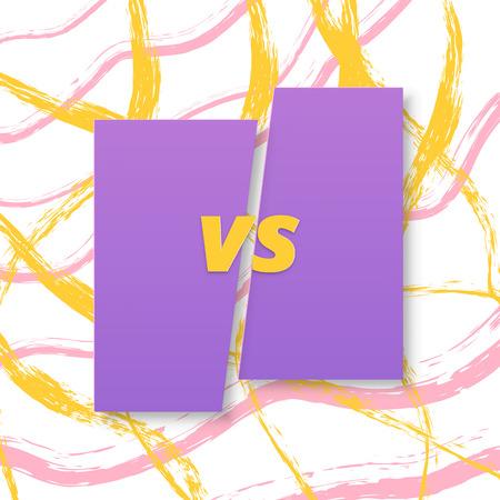 Versus letters fashion background.Vector illustration.