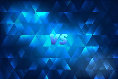 VS shine horizontal card.  Versus screen template. Vector illustration.