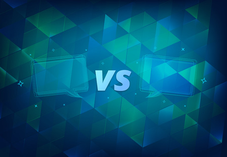 VS horizontal card.  Versus screen template. Vector illustration. Stock fotó - 103745944