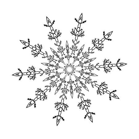 Decorative element. Flower decoration  isolated on white background. Vector illustration.