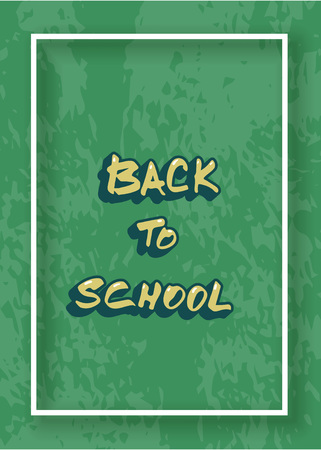 Back to school banner with textured background. Template for season promotion cards. Education cover with decoration.