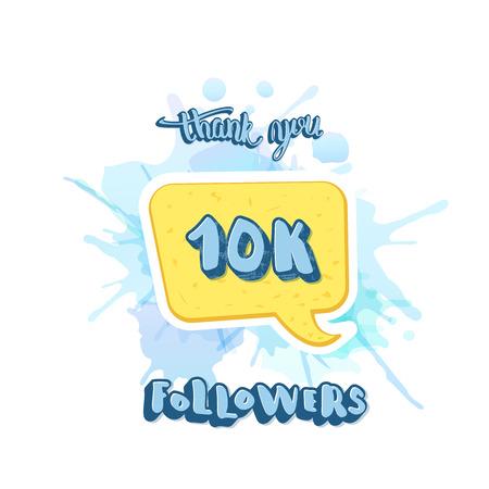 10k followers thank you social media template.