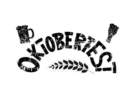 Oktoberfest lettering composition. Vektoros illusztráció