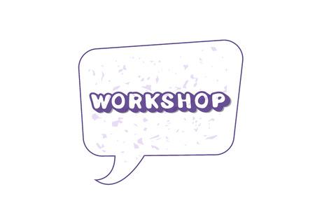 Workshop announcement composition.