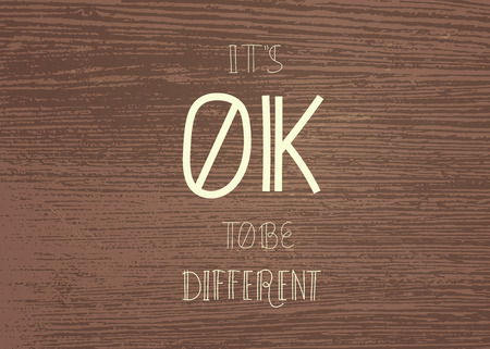 It's Ok To Be Different Quote. Handwritten Lettering Vector Composition. Stok Fotoğraf - 108598558