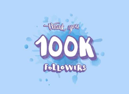 100k followers thank you social media template.