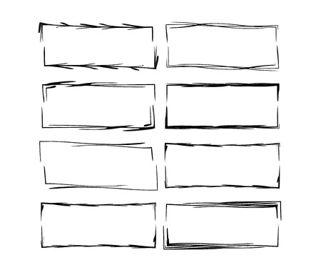 Collection of geometric rectangle empty borders.
