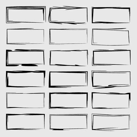 Square grunge frames.