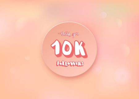 10k followers thank you social media template.