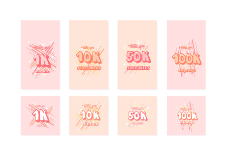 Set of social media templates. Banners for internet networks. Illusztráció