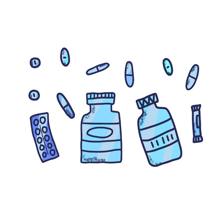 Probiotic concept. Vector illustration.