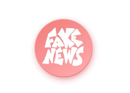 Fake news badge. Banner design template with stylized phrase. Vector color illustration. Illustration