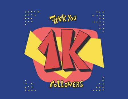 10k folowers social media post. 10000 subscribers post. Vector illustration. Illusztráció