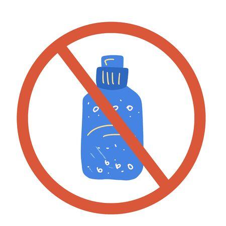 Stop liquid sign icon. Restrict symbol. Vector  illustration. Çizim