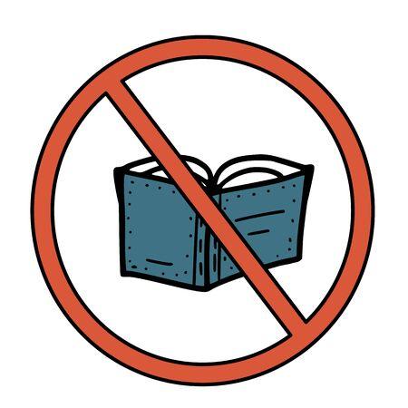 Stop sign icon. Restrict symbol. Vector  illustration. Çizim