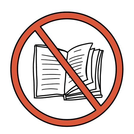 Stop book sign icon. Restrict reading symbol. Vector  illustration.