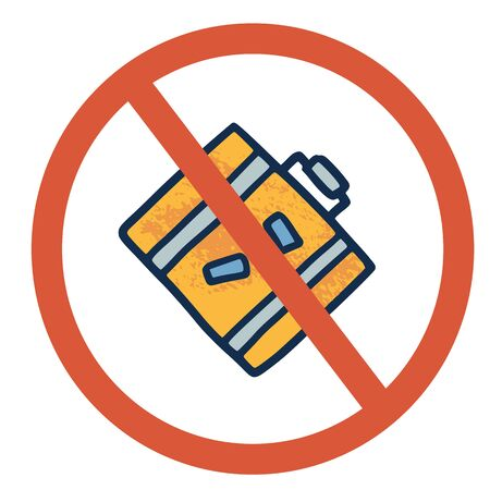 Stop luggage sign icon. Restrict symbol. Vector  illustration.