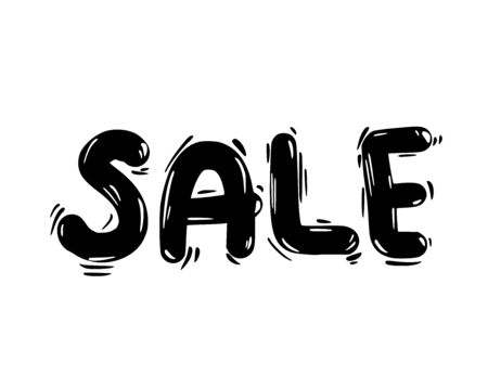 Sale hand drawn text. Vector stylized brush word.  イラスト・ベクター素材