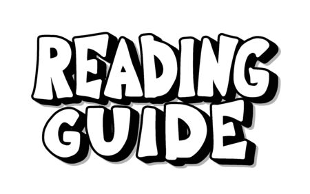 Reading guide phrase. Hand drawn quote about book. Text for bookstores, libraries, lists of bestsellers. Vector illustartion.