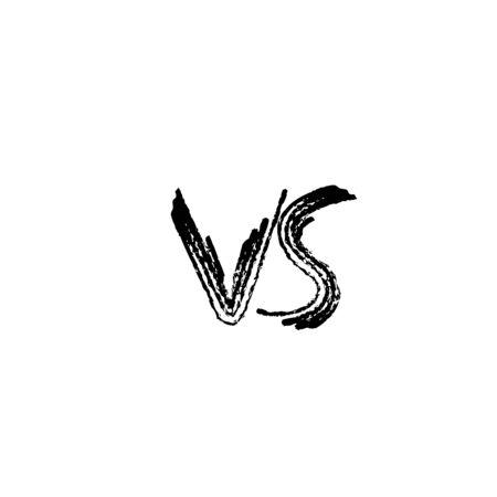 VS symbol screen. Versus lettering. Vector illustration.