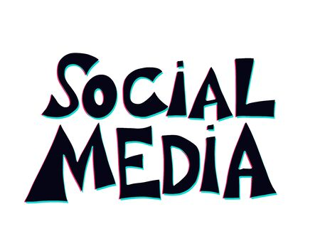 Social media quote. Hand drawn message. Stylized title. Vector illustration.