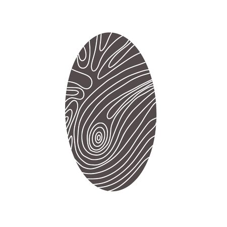 Identification fingerprints. Security for pass access. Finger prints sign isolatedon white background. System of bio recognition element. Vector illustration. Reklamní fotografie - 139331259
