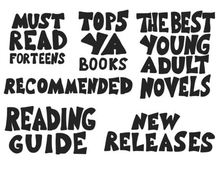 Young adults book phrases. Set of hand drawn quotes  about reading for teenagers. Vector illustartion.