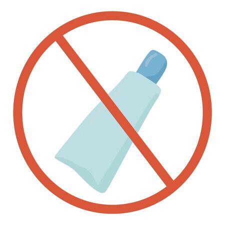 No plastic symbol. Forbidden  plastic sign. Vector illustration.
