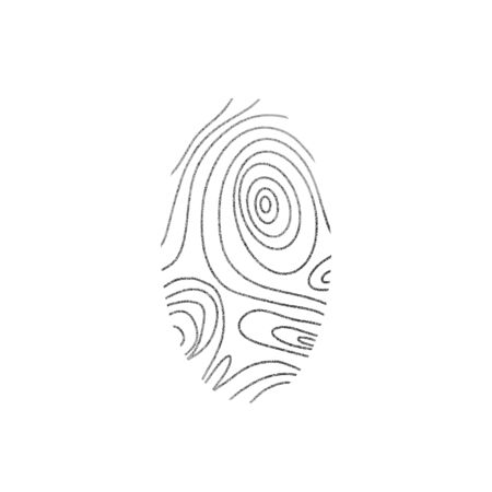 Identification fingerprints. Security for pass access. Finger prints sign isolatedon white background. System of bio recognition element. Vector illustration.
