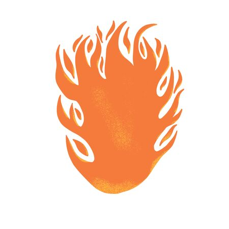 Fire symbol. Wildfire sign isolated on white background. Vector color illustartion. Ilustrace