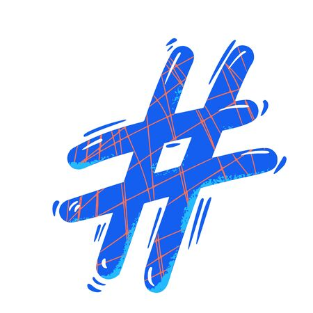 Hashtag or number sign isolated on white background. social media hash tag symbol. Vector illustration.