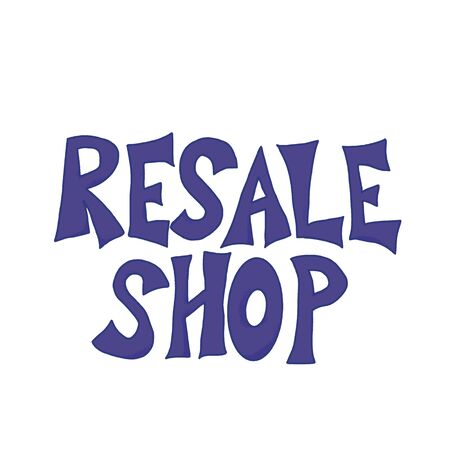 Resale shop hand drawn text emblem. Lettering isolated on white background. Vector illustration. 向量圖像