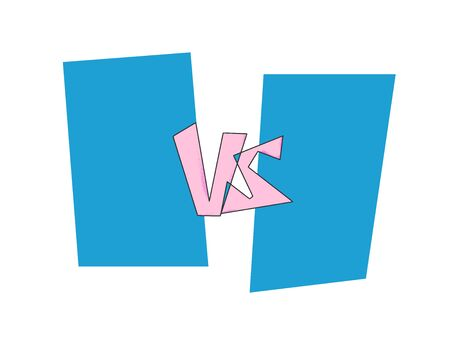 Versus  sign with copy space. VS screen. Decorative battle cover with lettering. Template for banner for competition. Vector illustration. 向量圖像