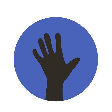 Hand round icon. Deal symbol. Vector illustration. Vector illustration.