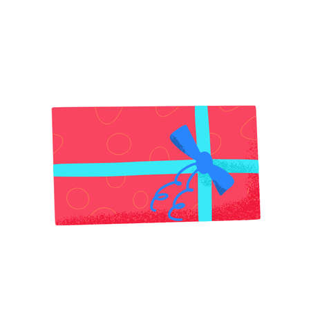 Gift box isolated on white background. Giftware. Holiday presents symbol.