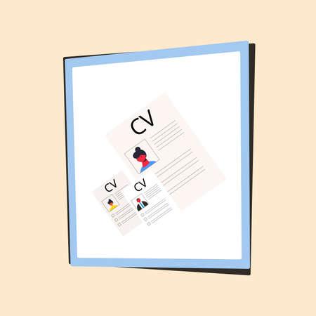 CV set. Resume group concept. Vector flat illustration.