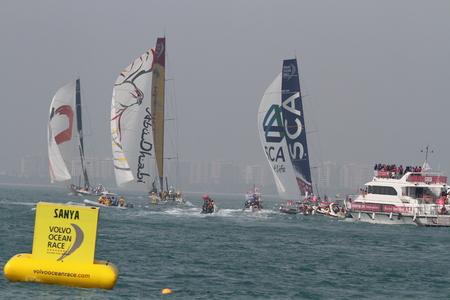 regatta: 2016 Volvo Sanya International Regatta Sanya mid Peninsula in port race.