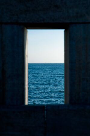 framed: See horizon framed by wooden structure