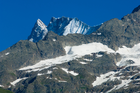 breathtaking: Swiss Alps - snow capped mountains and deep valleys, stunning view, breath-taking panorama