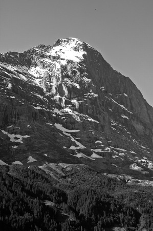 monch: Eiger, Swiss Alps - snow capped mountains and deep valleys, stunning view, breath-taking panorama