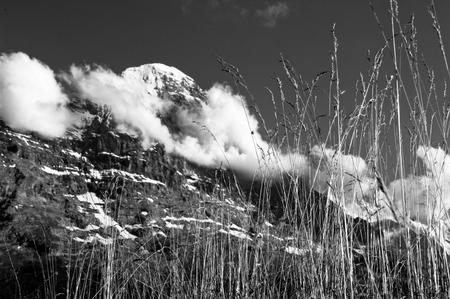 monch: Swiss mountains: Bernese Alps in Switzerland Stock Photo