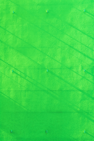 Green wall background with narrow shadow strips