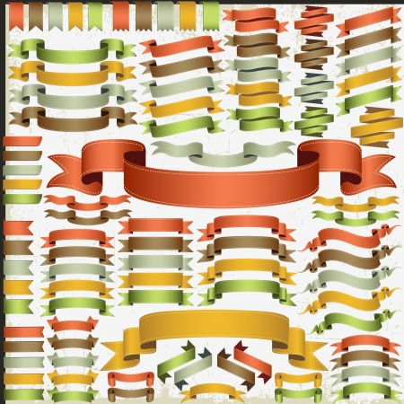 Set of illustrated ribbons Illustration